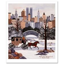 """Jane Wooster Scott """"Manhattan Wonderland"""" Limited Edition Lithograph on Paper"""