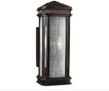 Feiss Federal 3-Light Gilded Bronze Outdoor Wall Fixture