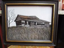 Country Landscape Realism Painting Shack Herbert Weintraub