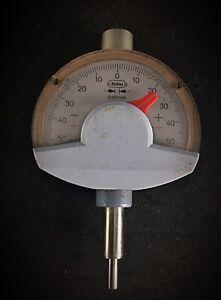 Ancien comparateur à aiguille 0.001mm -Feku- Fonctionne outillage usine ancien