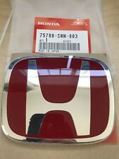 GENUINE JDM FD2 HONDA FRONT RED EMBLEM 06-11 CIVIC OEM TYPE R NEW 75700-SNW-003