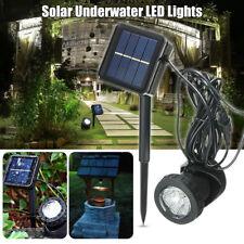 Solar Power Submersible Underwater Lamp LED Light Garden Fountain Pond Spotlight