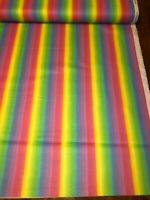 Jesus Loves the Little Children Rainbow Pastel 100% cotton fabric by the yard