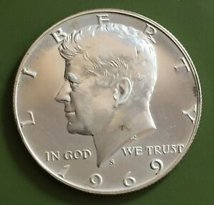 USA 1969-S Kennedy Half Dollar, Silver Coin - PROOF               [#9146]