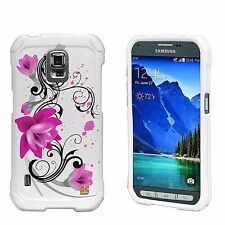 For Galaxy S5 ACTIVE Hard Sleek Snap On Case Cover Lotus Flower