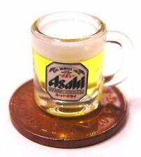 1:12 Scale Mug Of Japanese Asahi Beer Dolls House Miniature Pub Drink Accessory