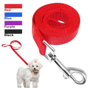 "48"" Nylon Dog Leash Clip Pet Leads Strap Soft for Dogs Training Walking 4 Sizes"