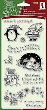 Inkadinkado Clear Stamps *11 Christmas Characters* NIP