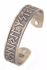 Vintage Norse Viking Runes Cuff Healthcare Magnetic Therapy Bracelet for unisex