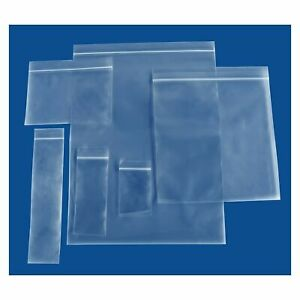 Clear Reclosable Zip and Lock Plastic 2 Mil & 4 Mil Bags Poly Jewelry Zipper Bag