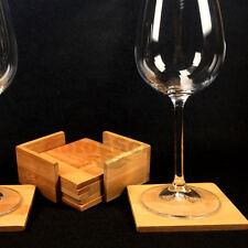 Glasuntersetzer Set 7-tlg. Holz Untersetzer Design natur Edel Gastronomie Wein