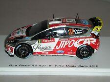 Spark S3346 Diecast Ford Fiesta RS WRC  Monte Carlo 2012 M Prokop-Z Hruza 1:43