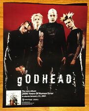 gODHEAD 2000 Years of Human Error 18x22 promo poster Posthuman Manson's label