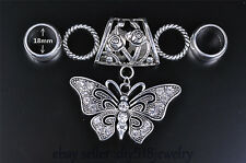 DIY Jewelry Necklace Scarf pendant Charms Fashion crystal Silver butterfly C11-1