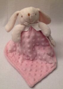 BLANKETS & BEYOND Pink Minky Puppy Dog Lovey Security Blanket  Pacifier Holder
