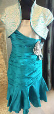 Mother of the Bride Teal Green and Silver Two-piece (by Presen) UK Size 18