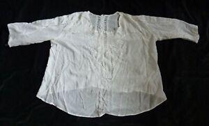 Edwardian Blouse - White Cotton Voile