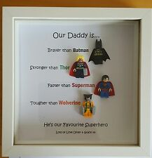 PERSONALISED MY OUR DADDY IS SUPERHERO FRAME BIRTHDAY GIFT UNCLE DAD GRANDAD