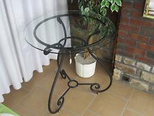 MELARTI *NEW* Table guéridon hauteur 74,5cm diamètre 70cm fer forgé noir