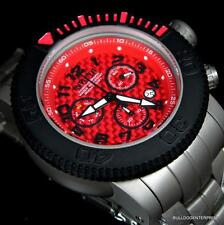 Invicta Sea Hunter Full Sized 58mm Titanium Red Swiss Movt Chronograph Watch New