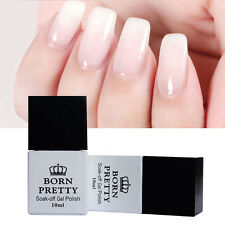 10ml Gellack Opal Jelly Gel White Soak Off UV Gel Polish Maniküre BORN PRETTY
