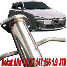 DOWNPIPE INOX TUBO RIMOZIONE CATALIZZATORE CENTRALE ALFA 147 156  GT 1.9 JTD T12