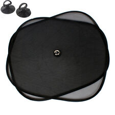 2x Car Side Window Black Mesh Sun Shade Visor Anti-UV Cover Shield For Baby Kids