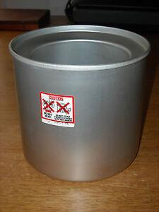 Donvier Premier or Chillfast 1-Quart Ice Cream Maker Canister Cylinder Part