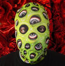 3D Efecto Ojo Demonio Limo Verde Cara Piel Lycra Tela Cara Máscara Halloween