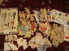 Odd lot of vintage paper dolls #2