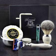 Men's Shaving Gift Set Gillette Fusion & Synthetic Brush Grooming Kit for HIM