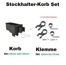 Doppelstockhalter Gehstock Halter Rollator Rollstuhl Gehstützenhalter + 2xHalter