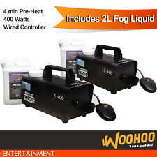 2x 400w Fog Smoke Machine for Party Club DJ Stage Performance w/ Magnetic Switch
