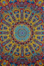 """3D SUNBURST Psychedelic Tapestry/Wall Hanging 60""""x90"""" FREE 3D GLASSES!"""
