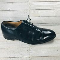 Johnston Murphy Limited Mens Cap Toe Oxfords Black Leather Size 9.5 D