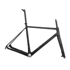 56cm BB30 Carbon Road Bike Disc Frame Fork Seatpost Racing Parts UD Matt DI2 QR