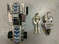 Power Rangers In Space Silver Ranger Action Figure w/ Rover and Galaxy Glider