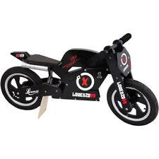 Kiddimoto Jorge Lorenzo Super Wooden Balance training bike with matching helmet