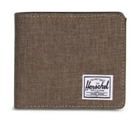 Herschel Roy Plus Coin XL RFID Wallet Geldbörse Canteen Crosshatch Braun