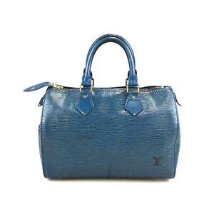 100% authentic Louis Vuitton Speedy 25 Epi M43015 handbag used 124-2-ab