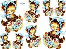 Xl VinTaGe ImaGe KiTty CaT GiFts NuRseRy ShaBby WaTerSliDe DeCals FuRniTuRe SiZe