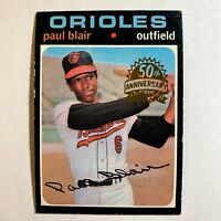 Paul Blair BUYBACK 1971 #53 2020 Topps Heritage High Number 50th Anniversary