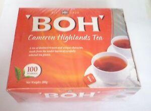 BOH Plantation Cameron Highlands TEA 100 Bags Malaysia Tea Bags Oolong Tea
