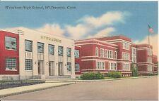 Windham High School Willimantic Ct Postcard