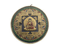 Mandala Mantra Tibetano IN Terra E di Carta Budda Dhyani Akshobya Nepal 9537