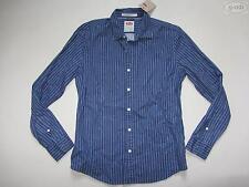 Levi's® Herren Hemd Gr. S, fein gestreift, blau, NEU !! Langer Arm, Modern Fit !