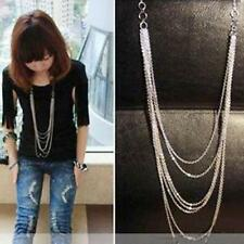 Lady Womens Sweater Chain Pendant Necklace Multi-layer Long