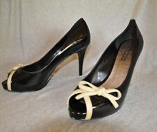 "Moda Spana ""Sara"" black patent hi-heel pumps - Size 11 , 4.5"" heel - New"