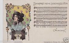 # LIBERTY - TEDESCO: DONNA MORA ..CUORICINI E NOTE MUSICALI