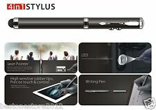 4in1 Stylus+Pen+Laser Pointer+LedLight for Apple/IPhone/iPad Samsung Cell Tablet
